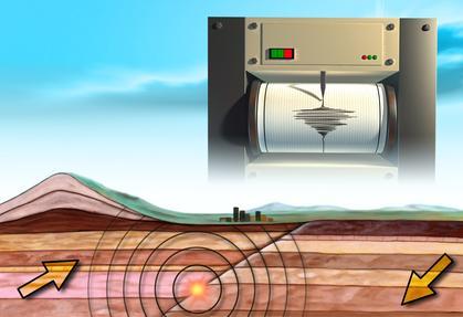 Sismografo per misurare la magnitudo dei terremoti