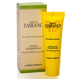 Crema contro acne seboequilibrante delle Terme di Tabiano