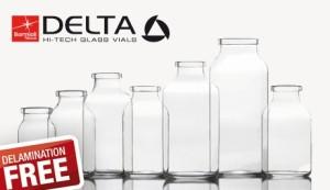 """Gamma di contenitori in vetro """"Delta"""" per uso farmaceutico della Bormioli Rocco Packaging"""