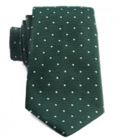 cravatta a pois verde Andrews Ties