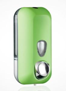 Dispenser di sapone di colore verde