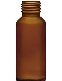 Flacone in plastica marrone