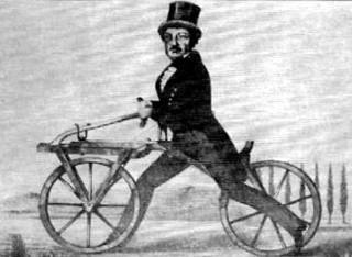 Una delle prime biciclette