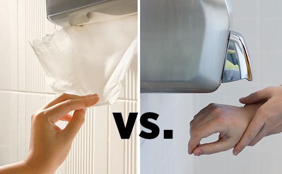 Dispenser di asciugamani in carta vs asciugamani elettrici