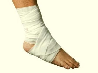 Caviglia bendata