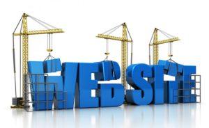Sito web in costruzione con gru