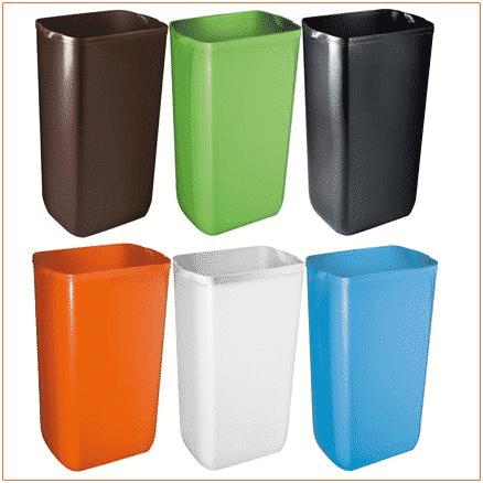 Cestini bagno colorati