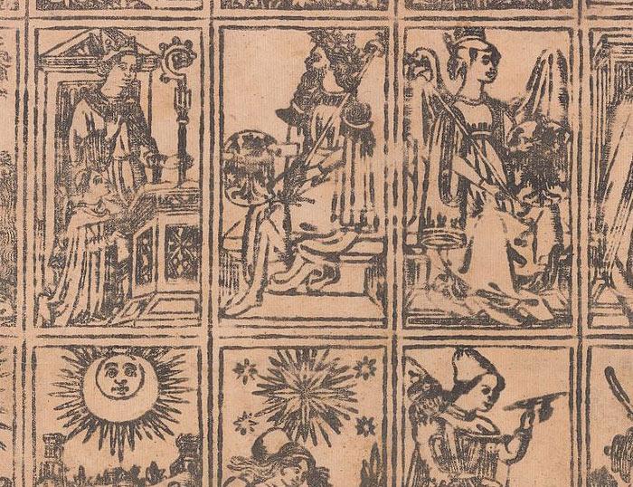 foto dei tarocchi antichi